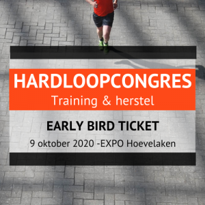 Hardloopcongres 2020 early bird ticket